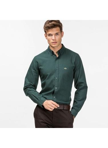 Oxford Yaka Uzun Kollu Slim Fit Gömlek-Lacoste
